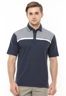 Regular Fit - Polo Casual - Two Tone Color - Hitam
