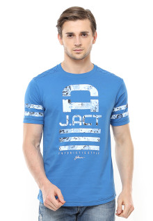 Slim Fit - Kaos Casual Active - Futuristic - Biru