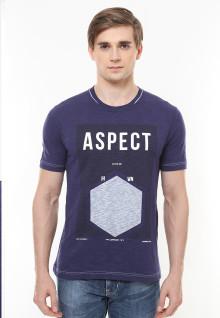 Slim Fit - Kaos Casual Active - Aspect - Biru Navy