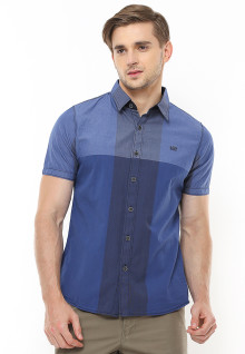 Slim Fit - Kemeja Fashion - Motif Kotak - Design Classic - Biru