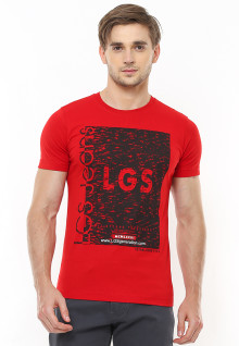 Slim Fit - Kaos Youth - Gambar Sablon - Merah
