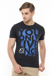 Slim Fit - Kaos Youth - Gambar Sablon - Hitam