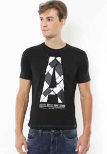 Slim Fit - Kaos Casual - Perfection - Hitam