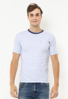 Slim Fit - Kaos Casual Active - Ring Navy - Putih