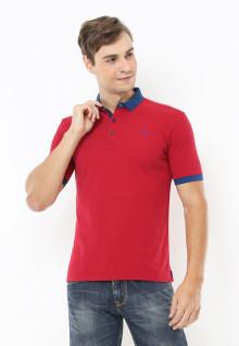 Slim Fit - Polo Active - Logo Dada - Merah