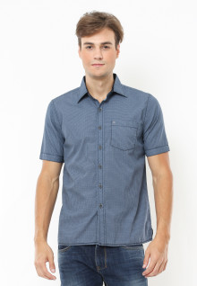 Regular Fit - Kemeja Casual - Plaid - Biru