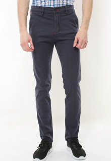Slim Fit - Celana Chinos - Stretch - Biru Navy