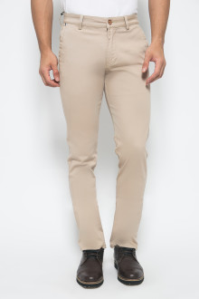 Slim Fit - Celana Chinos - Stretch - Krem
