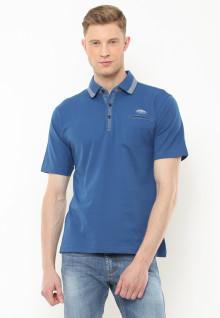 Regular Fit - Polo Casual - Motif Full Colour - Biru