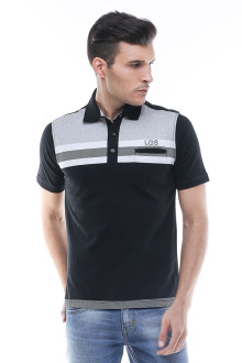 Regular Fit - Kaos Polo - Kantong Dalam - Hitam