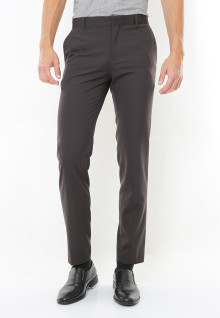 Slim Fit - Celana Formal -  Light Grey