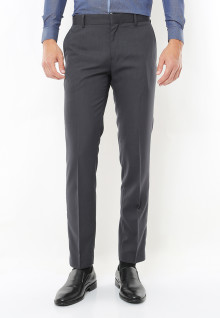 Slim Fit - Celana Formal - Medium Grey