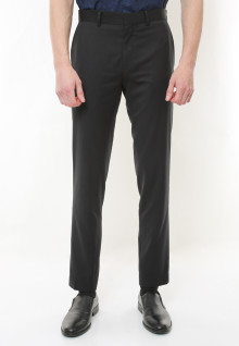 Regular Fit - Celana Formal - Black