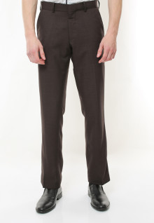 Regular Fit - Celana Formal - Brown