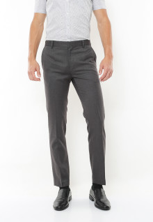 Slim Fit - Celana Formal - Grey