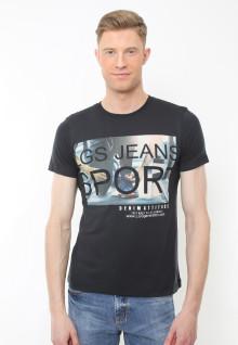Slim Fit - Kaos Youth - Motif Sablon LGS Jeans Sport - Hitam