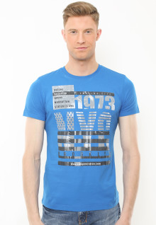 Slim Fit - Kaos Youth - Motif Sablon 1973 NYC - Biru