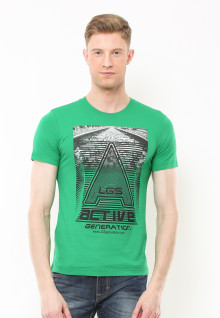 Slim Fit - Kaos Youth - Motif Sablon LGS Active Generation - Hijau