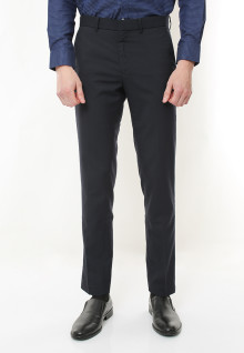 Slim Fit - Celana Formal - Black
