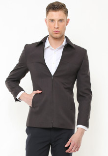 Slim Fit - Blazer - Full Zipper - Abu