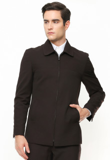 Slim Fit - Blazer - Full Zipper - Coklat