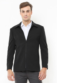 Slim Fit - Blazer - Full Zipper - Hitam