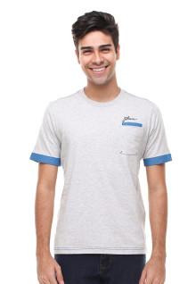 Slim Fit - Kaos Casual Active - Motif biru - Abu