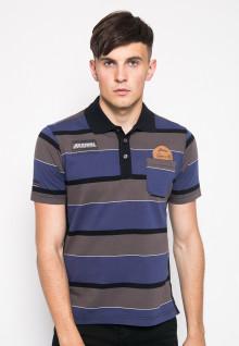 Slim Fit - Polo Shirt - Brown/Blue