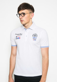 Slim Fit - Polo Shirt - White - Logo