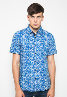 Kemeja Fashion - Full Motif - Biru