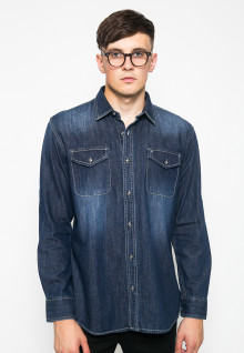Kemeja Fashion - Denim - Biru Demin
