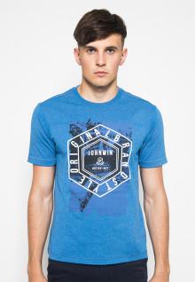 Kaos Casual Active - Gambar Sablon - Biru