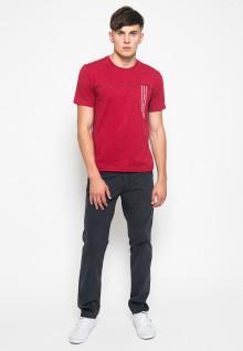 Kaos Casual - Gambar Sablon - Merah