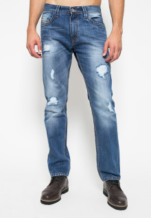 Celana Jeans - Ripped - Light Blue