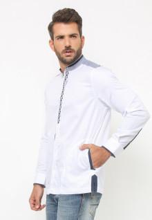 LGS - Baju Koko - Lengan Panjang - Bordir - Variasi Warna - Putih