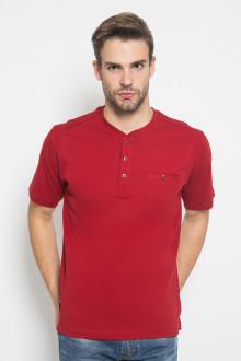 Regular Fit - Kaos Casual - Motif Polos - Merah