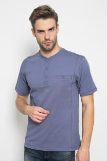 Regular Fit - Kaos Casual - Motif Polos - Biru