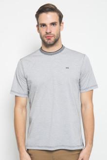 Regular Fit - Kaos Casual - Motif Titik - Putih