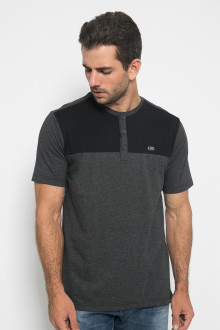 Regular Fit - Kaos Casual - Motif Two Colour - Abu