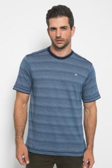 Regular Fit - Kaos Casual - Full Corak - Biru