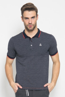 Slim Fit - Polo Active - Corak Titik - Hitam