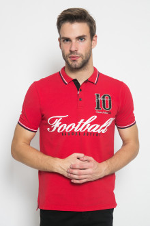 Slim Fit - Polo Active - Football - Merah