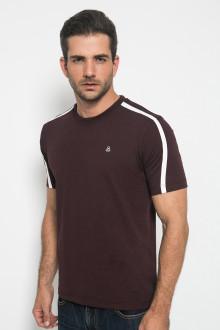 Slim Fit - Casual Active - Line Putih - Coklat