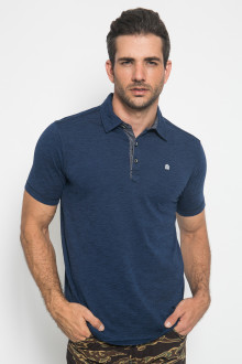 Slim Fit - Polo Shirt - 3 Kancing Placket - Navy