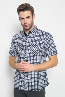 Slim Fit - Kemeja Fashion - Full Motif - Navy