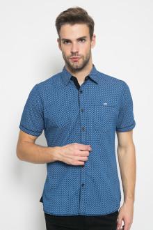 Slim Fit - Kemeja Fashion - Full Motif - Biru