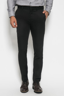Slim Fit - Formal Pants - Polyester 857 - Hitam