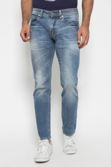 Jeans Slim Fit - Aksen Whisker - Light Blue