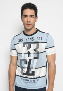 Kaos Jeans 73 motif garis besar - LETS.323.M1446F.01.7C