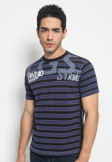 Kaos Jeans salur dua warna - LETS.323.M1465F.01.7C